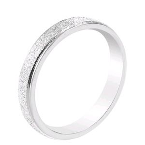 Frosted Silver Ring NWT